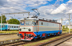 Locomotive in Cluj-Napoca station. Romania Stock Photos