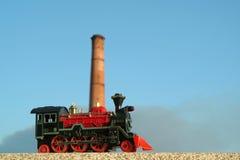 Locomotive colorée de jouet Photographie stock