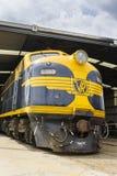 Locomotive d'héritage dans le musée ferroviaire à Melbourne photographie stock libre de droits