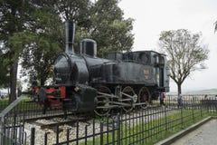 Locomotive dans la ville de Bergame, Italie images libres de droits