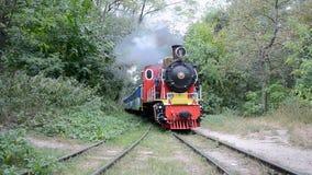 Locomotive de vintage, chemin de fer d'enfants de Kiev, banque de vidéos