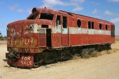 Locomotive in desert Stock Photo