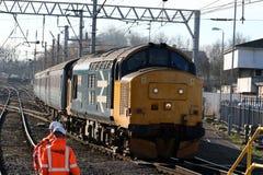 Locomotive diesel-électrique de la classe 37 à Carlisle Image libre de droits