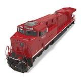 Locomotive diesel-électrique sur le blanc illustration 3D Photo stock