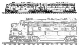 Locomotive diesel Images libres de droits