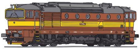 Locomotive diesel Photo stock