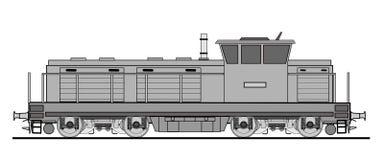 Locomotive diesel de cargaison Photographie stock libre de droits