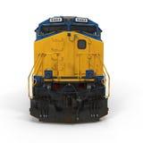 Locomotive diesel sur le blanc Front View illustration 3D Image libre de droits