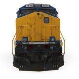Locomotive diesel sur le blanc Front View illustration 3D Images libres de droits