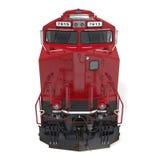 Locomotive diesel sur le blanc Front View illustration 3D Photographie stock libre de droits