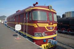 Locomotive diesel TEP-60 de passager de vintage sur le chemin de fer St Petersburg Image stock