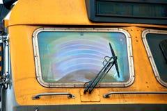 Locomotive with dirty windscreen Stock Photo