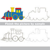 Locomotive. Drawing worksheet. Stock Photography
