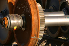 Locomotive Drive Wheel Royalty Free Stock Photography