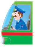 Locomotive driver Stock Image