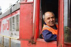 Locomotive driver Royalty Free Stock Photos