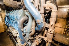 Locomotive engine. Alsthom locomotive engine from Train of Thailand Royalty Free Stock Images
