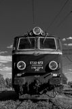 Locomotive engine converted to black and white Royalty Free Stock Photo
