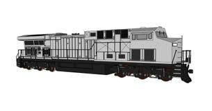 Locomotive ferroviaire diesel moderne avec la grande puissance et la force pour déplacer le long et lourd train de chemin de fer  Photographie stock libre de droits