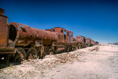 Locomotive graveyard Royalty Free Stock Photos