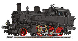 Locomotive. Hand drawing of old steam locomotove Stock Image
