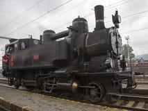 Locomotive. Historic steam locomotive of the last century Stock Photos