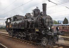 Locomotive. Historic steam locomotive of the last century Royalty Free Stock Photo