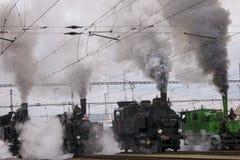 Locomotive. Historic steam locomotive of the last century Royalty Free Stock Photography