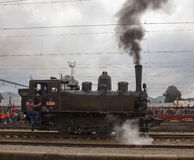 Locomotive. Historic steam locomotive of the last century Royalty Free Stock Images
