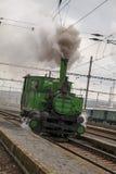 Locomotive. Historic steam locomotive of the last century Stock Photo