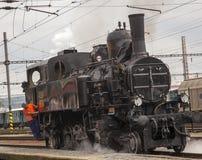Locomotive. Historic steam locomotive of the last century Stock Image