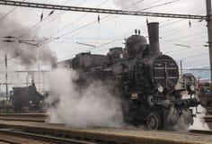 Locomotive. Historic steam locomotive of the last century Stock Images