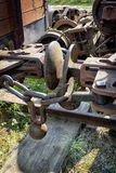 Locomotive hitch wagons Stock Photo
