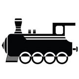 Locomotive icon Royalty Free Stock Images