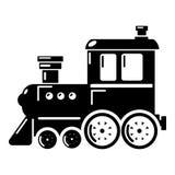 Locomotive icon, simple style. Locomotive icon. Simple illustration of locomotive vector icon for web Royalty Free Stock Image