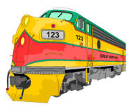 Locomotive illustration Royalty Free Stock Photography