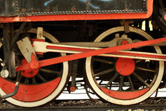 Locomotive iron wheels Stock Photos