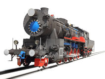 Locomotive isolated over white Royalty Free Stock Photo
