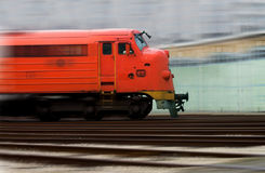 Locomotive is in motion Royalty Free Stock Image