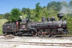 Locomotive of narrow gauge railway Royalty Free Stock Image