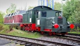Locomotive nel museo tecnico di Speyer Fotografia Stock Libera da Diritti