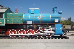Locomotive. Old soviet locomotive, parked at the chisinau railway station in moldova stock photography