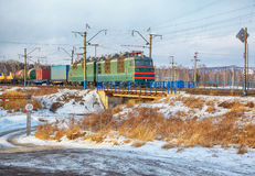 Locomotive On Trans-Siberian Railway Royalty Free Stock Photography
