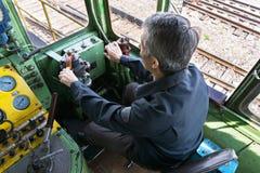 Locomotive operator above view Royalty Free Stock Photos