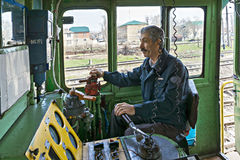 Locomotive operator Royalty Free Stock Photo