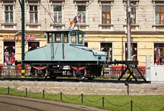 Locomotive in Oradea town. Romania Royalty Free Stock Photography