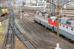 Locomotive of passenger train Royalty Free Stock Photography