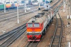 Locomotive of passenger train Royalty Free Stock Image