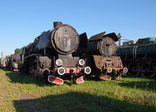 The locomotive of the past. The historic steam locomotives from the Museum railway rolling stock in Zdunska Wola Karsznice Royalty Free Stock Image