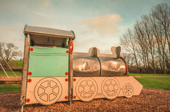 Locomotive at the Playground Stock Image